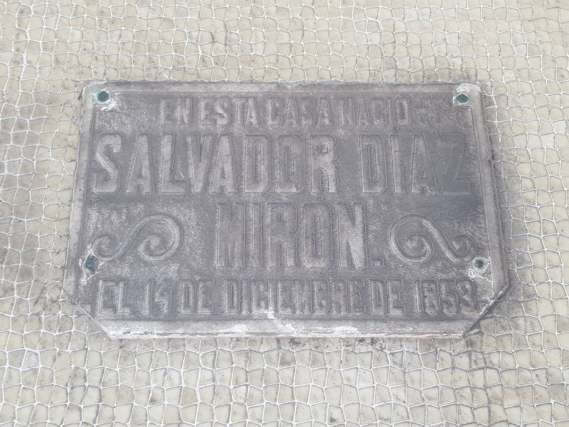 Birthplace of Salvador Díaz Mirón Marker image. Click for full size.