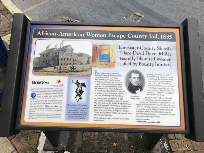 African-American Women Escape County Jail, 1835 Marker image. Click for full size.