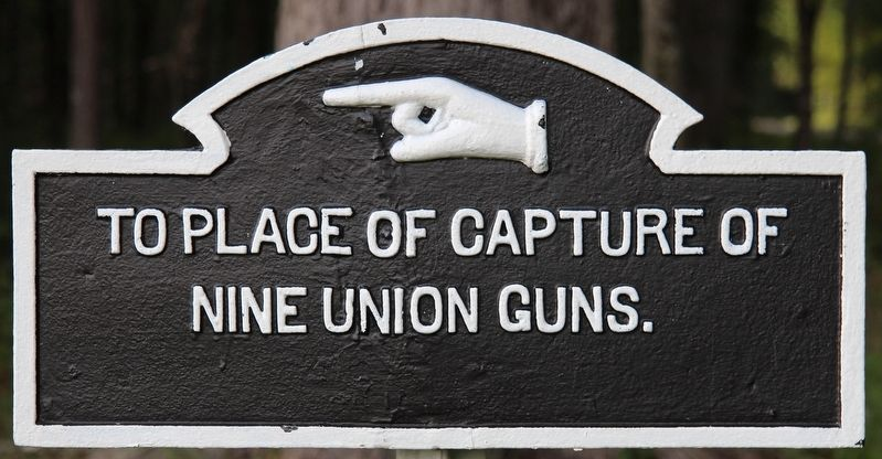 To Capture of Nine Union Guns Marker image. Click for full size.