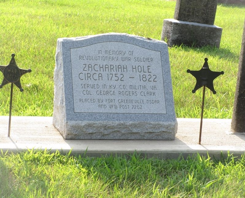 Zachariah Hole Marker image. Click for full size.
