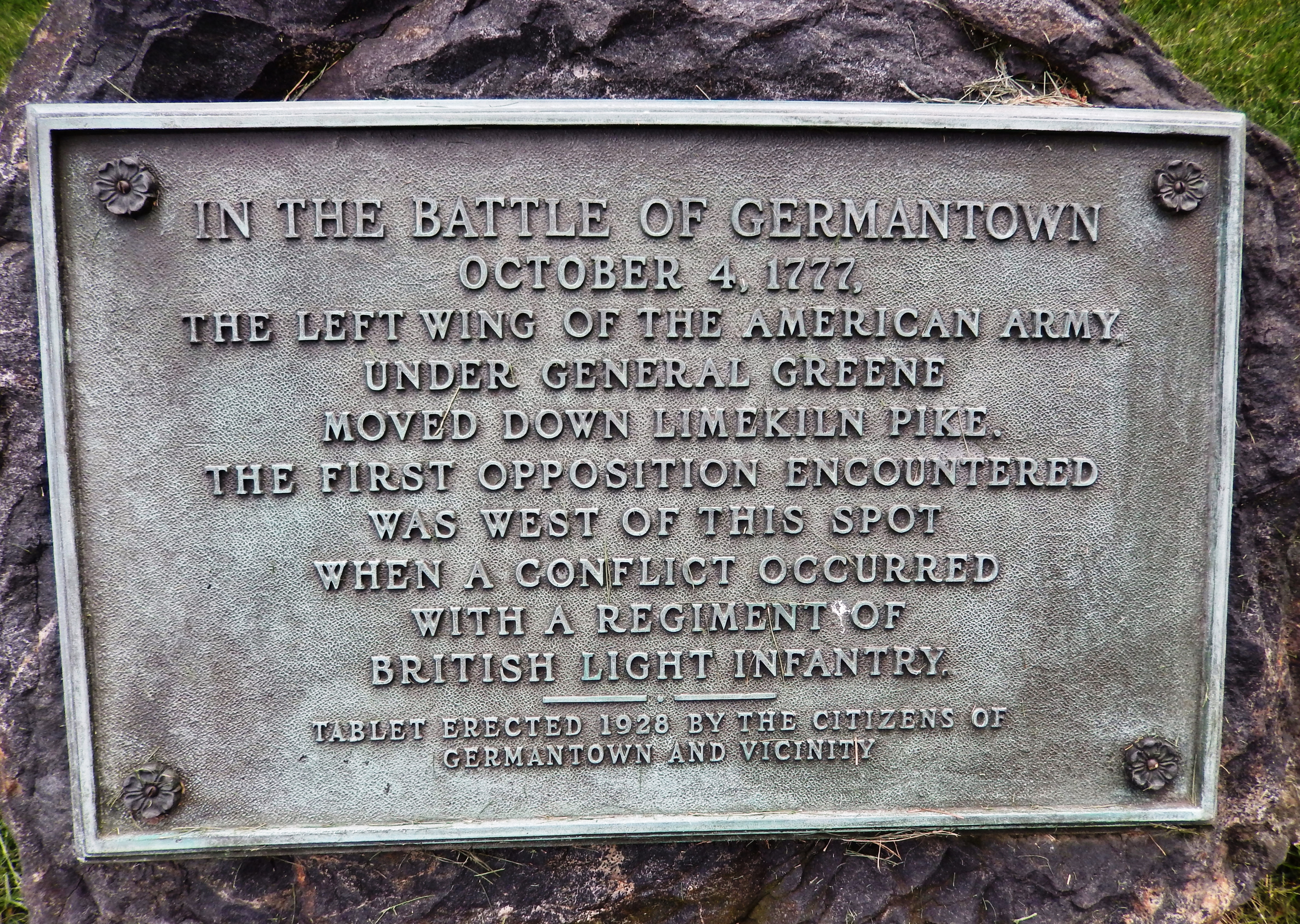 The Battle of Germantown Marker