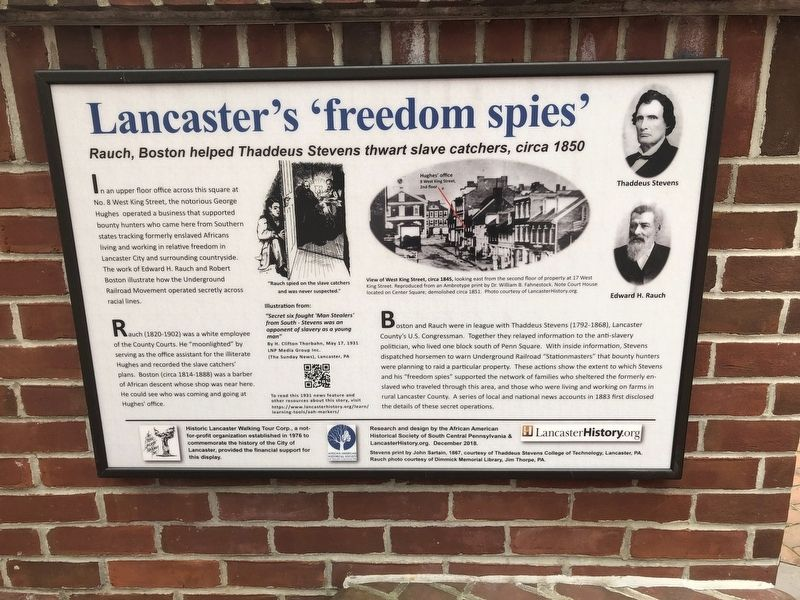 Lancaster's 'freedom spies' Marker image. Click for full size.