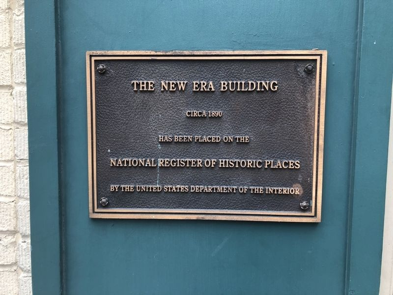 The New Era Building Marker image. Click for full size.
