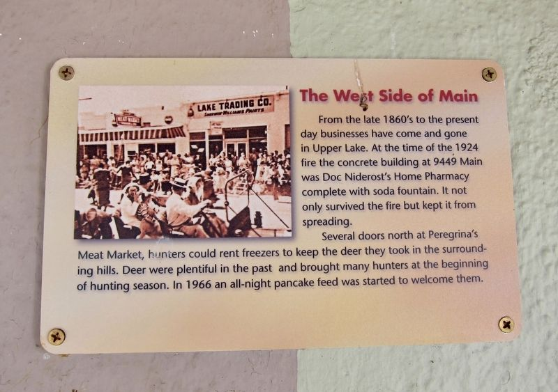The West Side of Main Street Marker image. Click for full size.