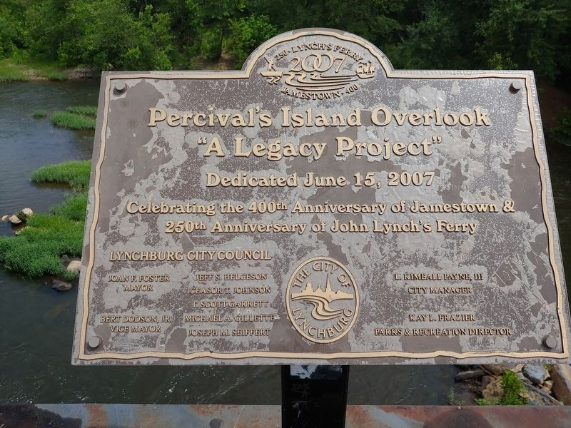 Percival's Island Overlook Marker image. Click for full size.