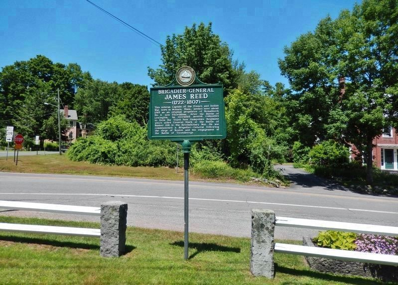 General James Reed Marker<br>(<i>view from Fitzwilliam Common • NH 119 behind marker</i>) image. Click for full size.