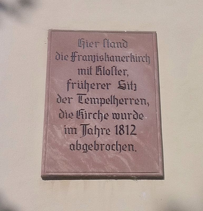 Franziskanerkirch / Franciscan Church Marker image. Click for full size.