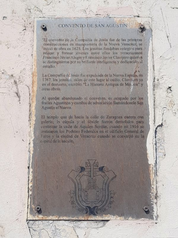 The Convent of San Agustín Marker image. Click for full size.