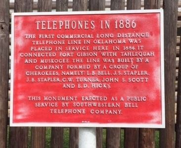 Telephones in 1886 Marker image. Click for full size.