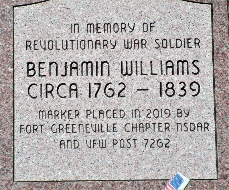 Benjamin Williams Marker image. Click for full size.