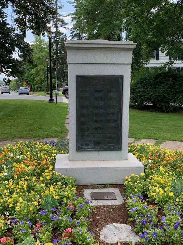 Middlebury War Memorial image. Click for full size.