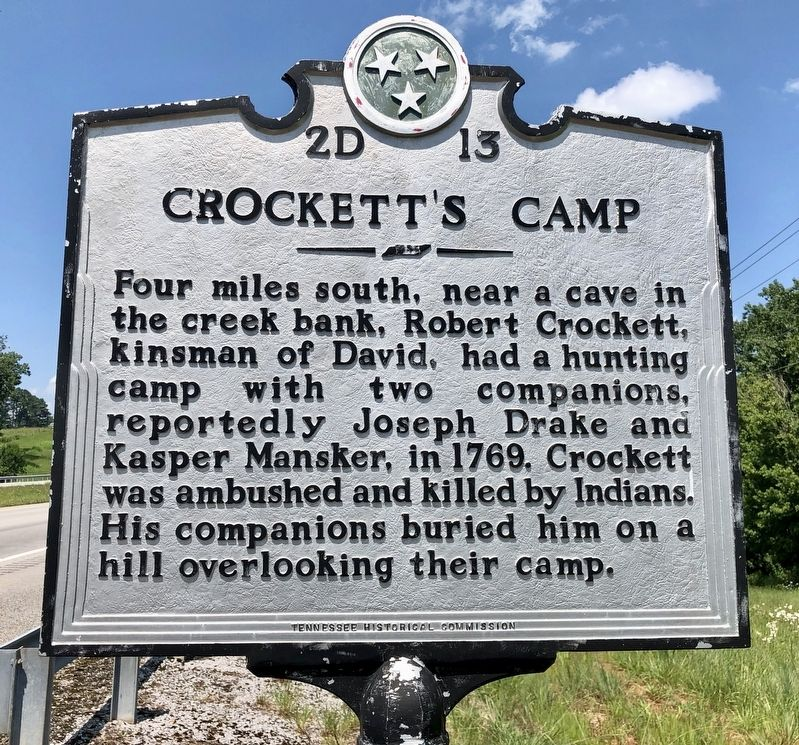Crockett's Camp Marker image. Click for full size.