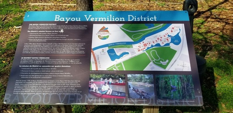 Bayou Vermilion District Marker image. Click for full size.