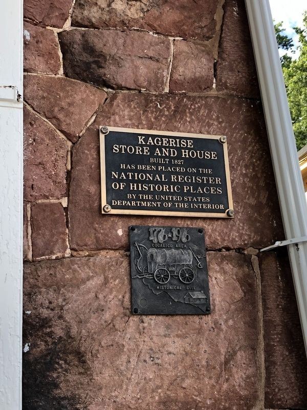 Kagerise Store and House Marker image. Click for full size.