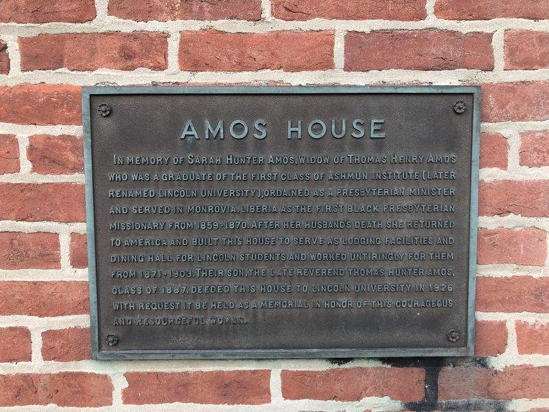 Amos House Marker image. Click for full size.