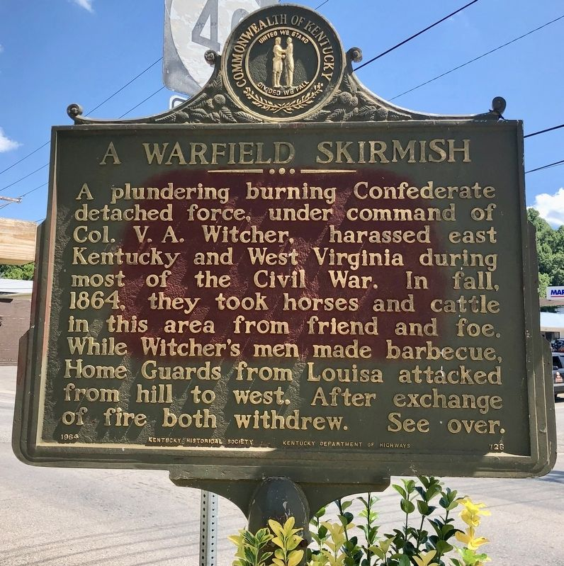 Warfield / A Warfield Skirmish Marker image. Click for full size.