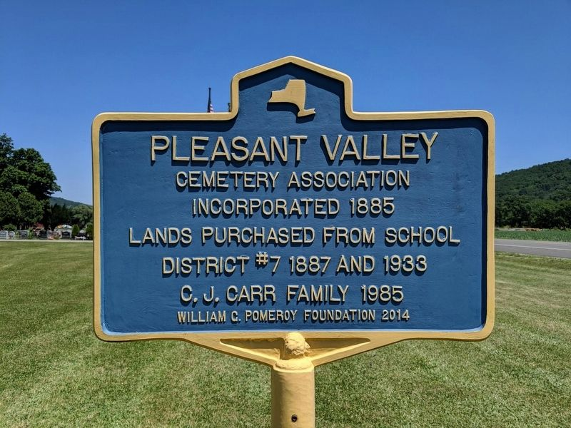 Pleasant Valley Marker image. Click for full size.
