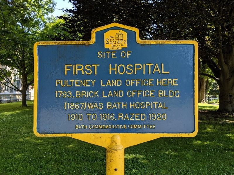 Site of First Hospital Marker image. Click for full size.