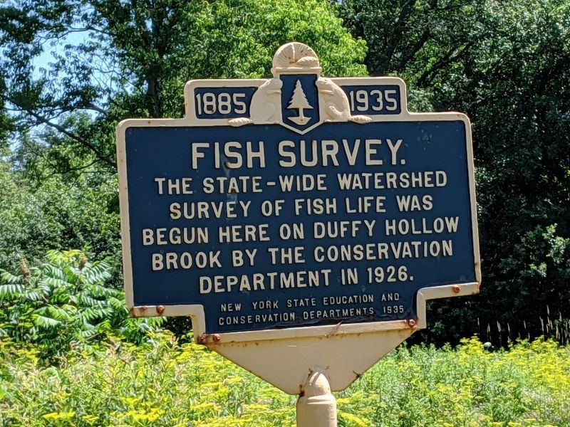 1885 Fish Survey 1935 Marker image. Click for full size.