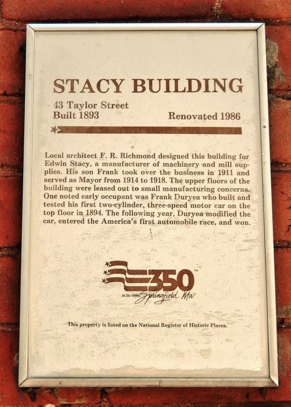 Stacy Building Marker image. Click for full size.