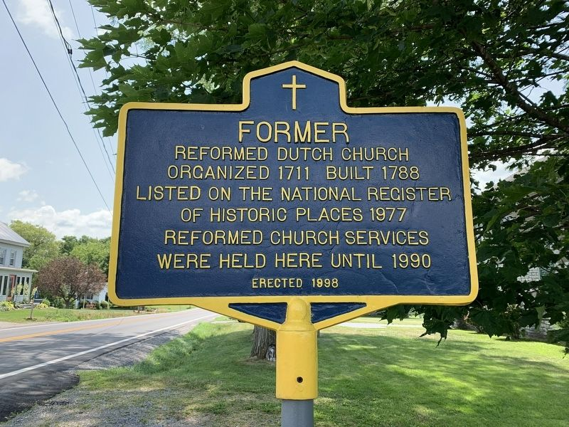 Former Dutch Reformed Church Marker image. Click for full size.