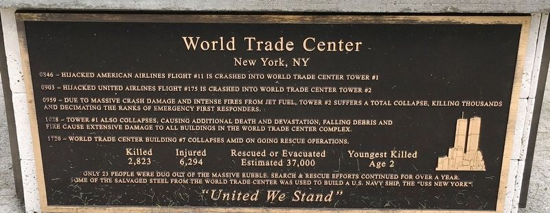 World Trade Center Marker image. Click for full size.