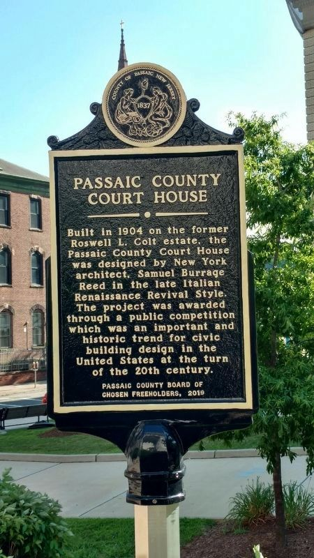 Passaic County Court House Marker image. Click for full size.