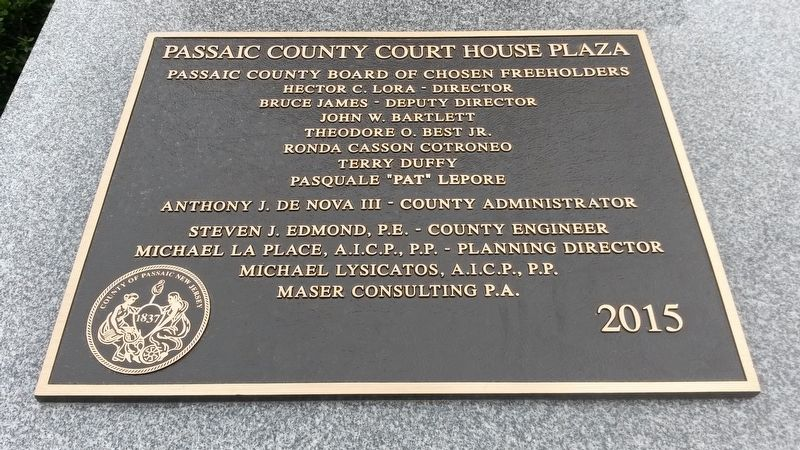 Location: Passaic County Court House Plaza image. Click for full size.