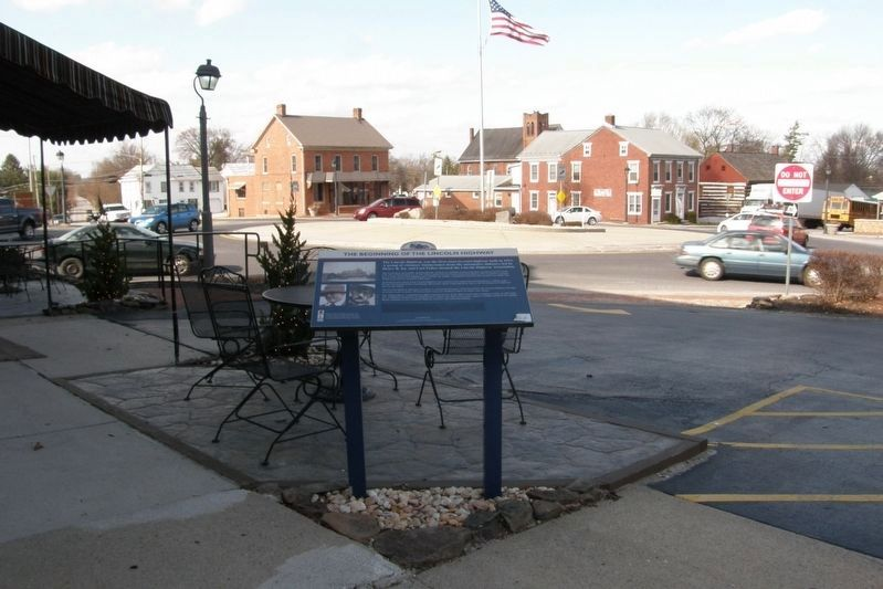 The Beginning of the Lincoln Highway Marker site image. Click for full size.