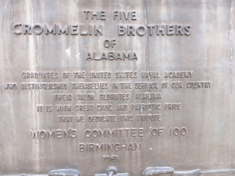 The Five Crommelin Brothers of Alabama Marker image. Click for full size.