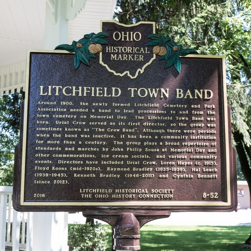 Litchfield Town Band Marker image. Click for full size.