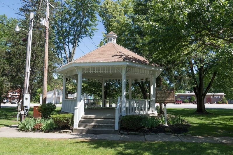 Litchfield Town Band Marker and Bandstand image. Click for full size.