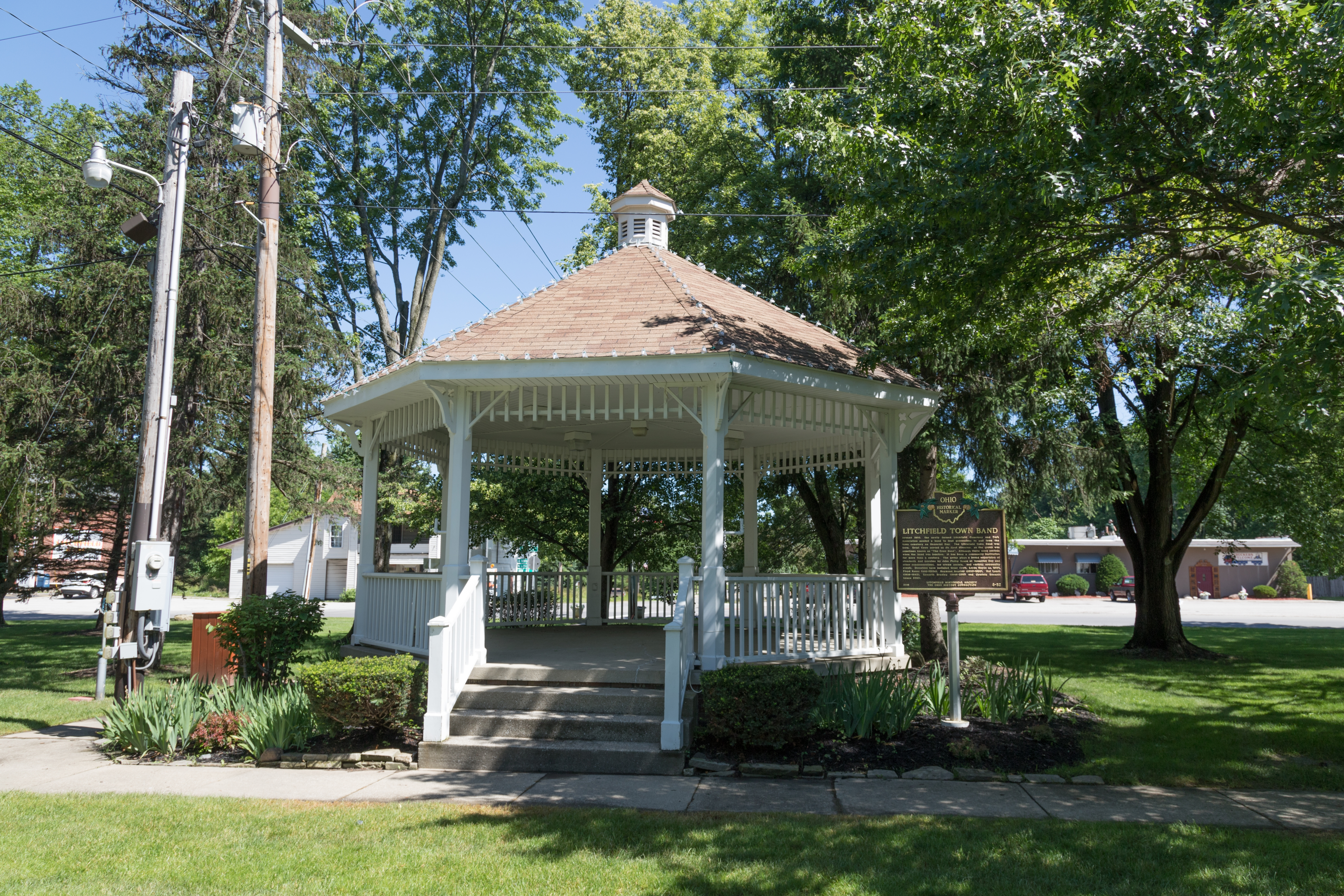 Litchfield Town Band Marker and Bandstand