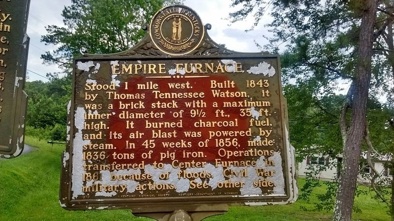 Empire Furnace Marker (Side 1) image. Click for full size.