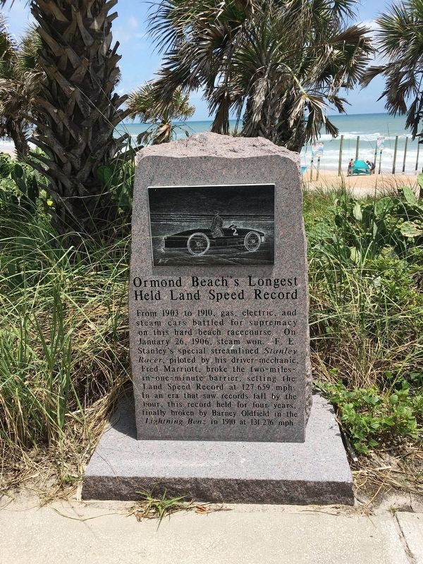 Ormond Beach's Longest Held Land Speed Record Marker image. Click for full size.