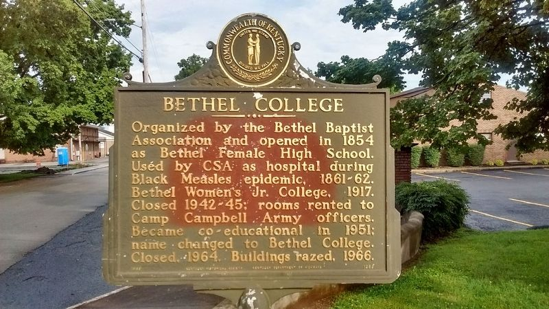 Bethel College Marker image. Click for full size.