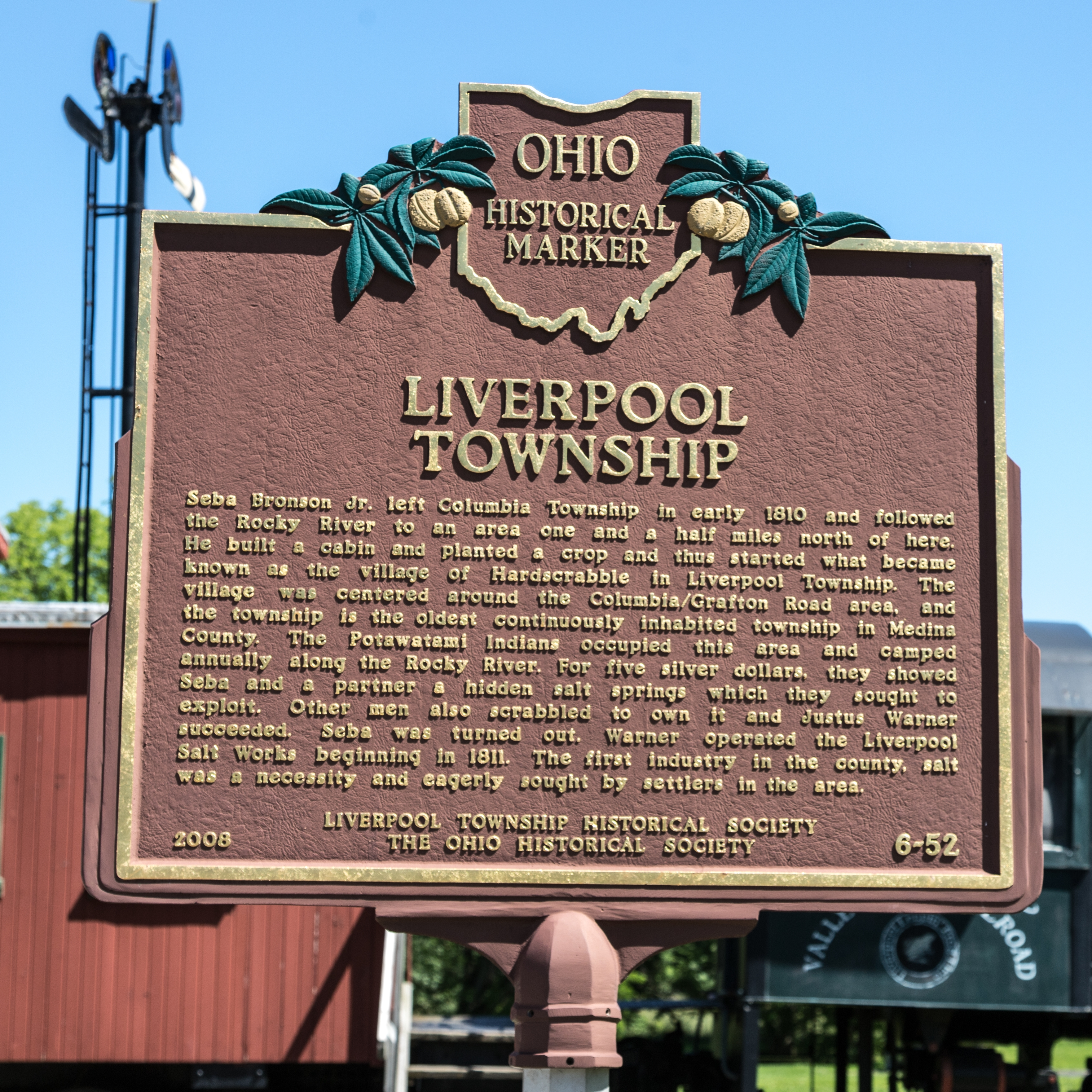 Liverpool Township side of marker