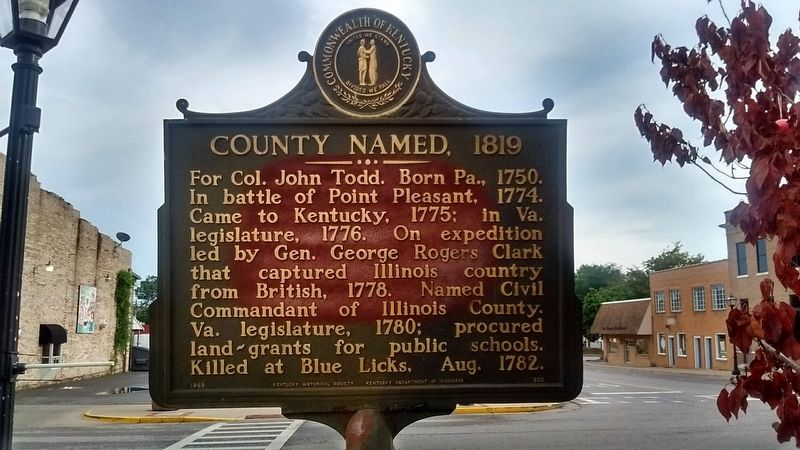 County Named, 1819 Marker image. Click for full size.
