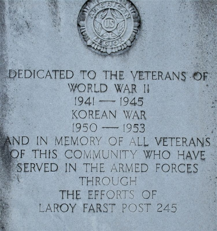 Greenmound Veterans Monument #2 Marker image. Click for full size.
