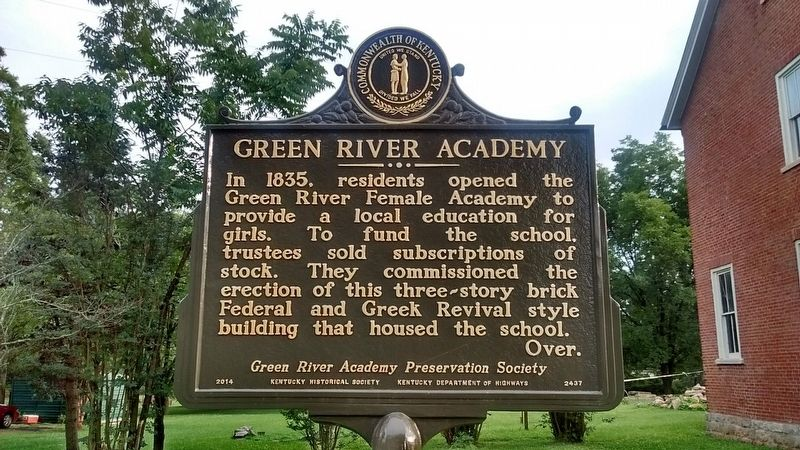 Green River Academy Marker (Side 1) image. Click for full size.
