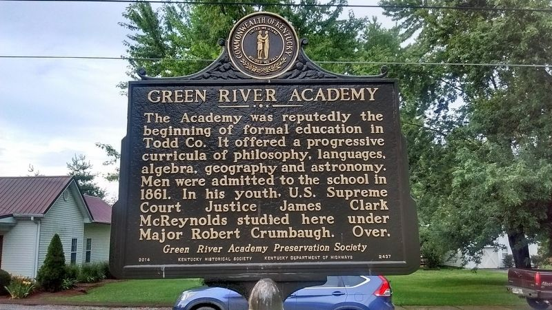 Green River Academy Marker (Side 2) image. Click for full size.