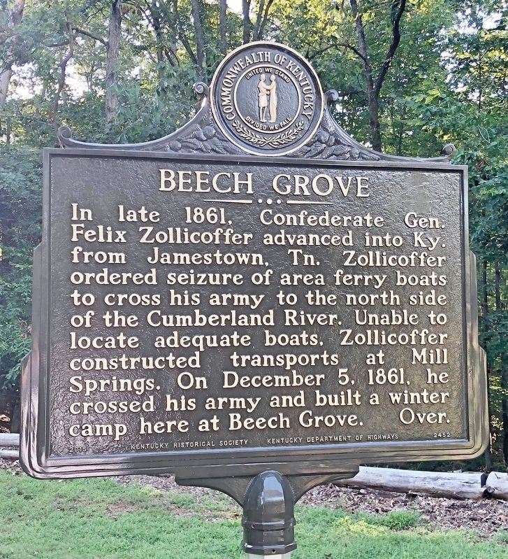 Beech Grove Marker image. Click for full size.