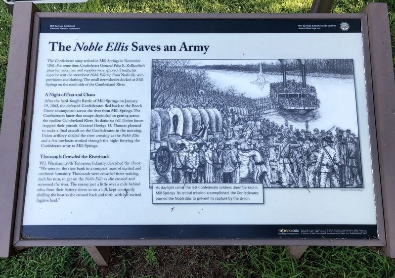 Another marker about the <i>Noble Ellis</i>. image. Click for full size.