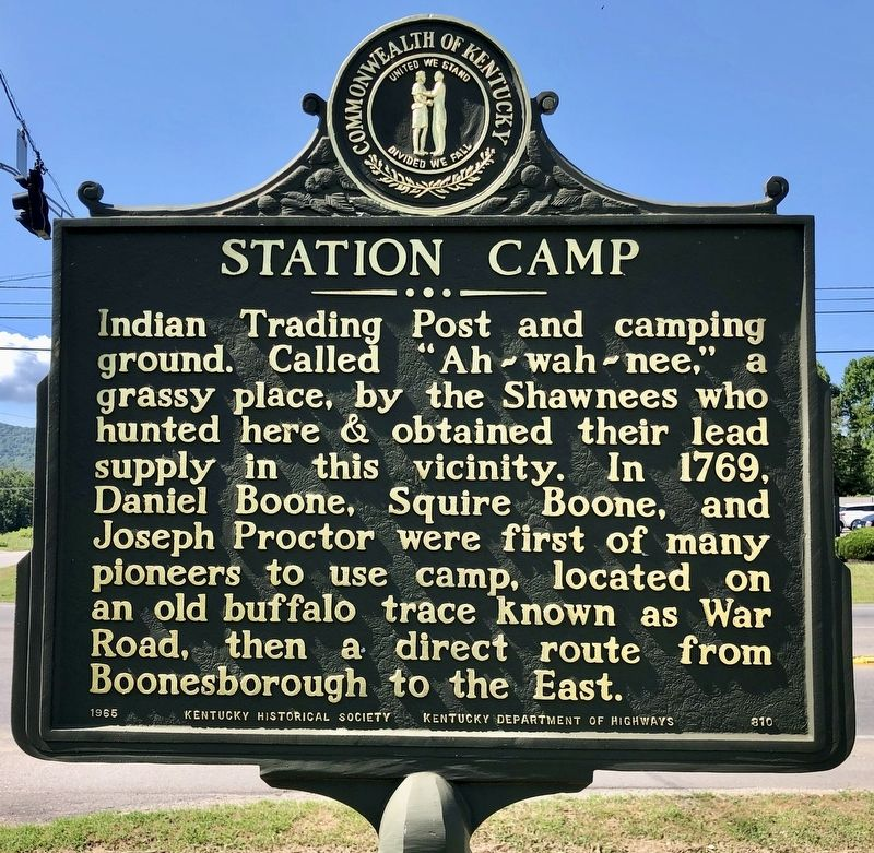 Station Camp Marker image. Click for full size.