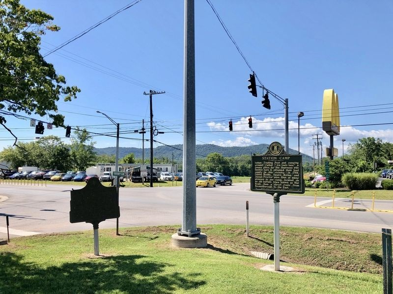 View of marker at intersection of KY-52 and Shady Lane. image. Click for full size.