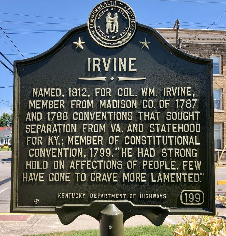 Irvine Marker image. Click for full size.
