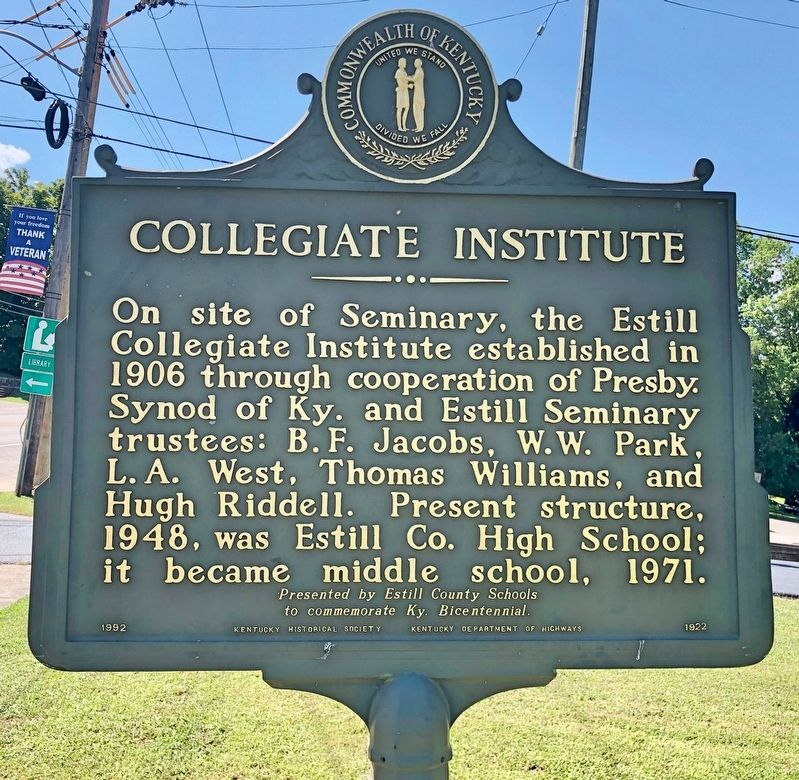 Collegiate Institute Marker image. Click for full size.