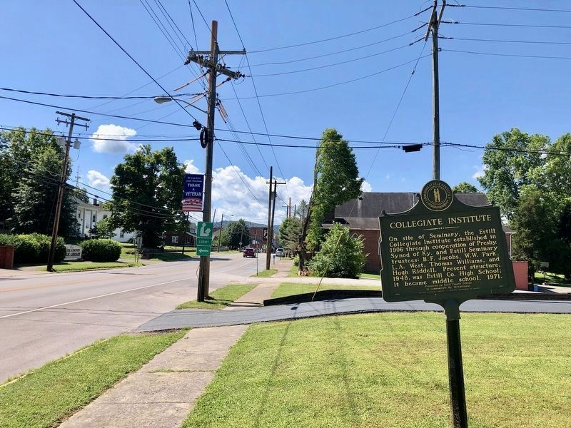 View of marker looking south on Main Street (KY-89). image. Click for full size.