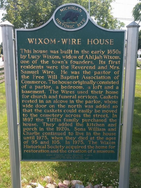 Wixom-Wire House Marker image. Click for full size.