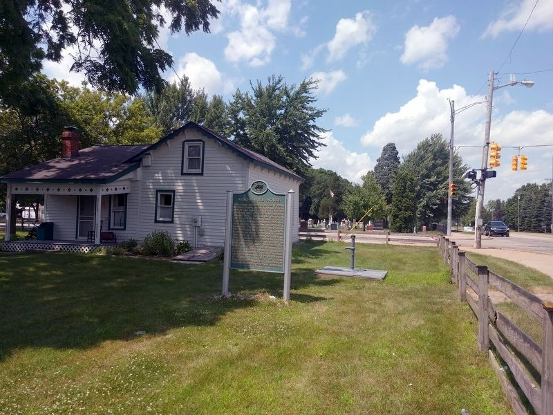 Wixom-Wire House and Marker image. Click for full size.